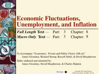 Economic Fluctuations, Unemployment, and Inflation