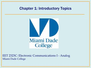 Chapter 1: Introductory Topics