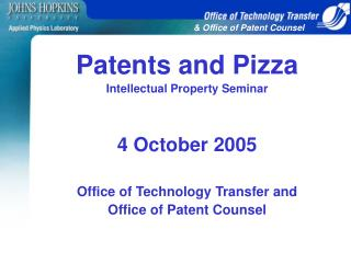& Office of Patent Counsel