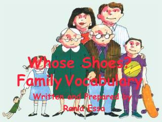 Whose Shoes? Family Vocabulary