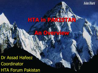 HTA in PAKISTAN An Overview
