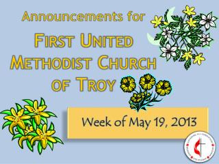 Announcements for First United Methodist Church of Troy
