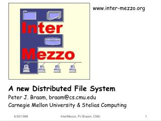 A new Distributed File System Peter J. Braam, braam@cs.cmu