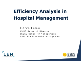 Efficiency Analysis in Hospital Management