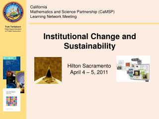 Institutional Change and Sustainability