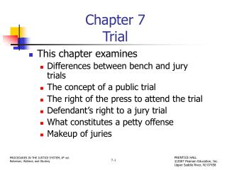 Chapter 7 Trial