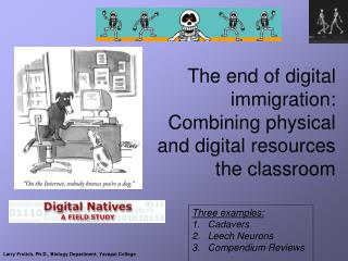 The end of digital immigration:  Combining physical and digital resources the classroom