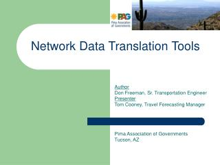 Network Data Translation Tools