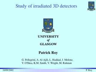 Study of irradiated 3D detectors