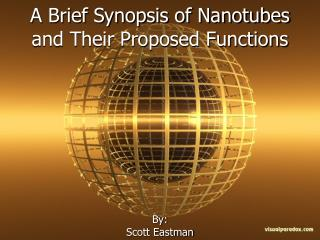 A Brief Synopsis of Nanotubes and Their Proposed Functions
