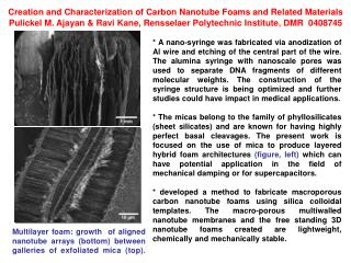 Creation and Characterization of Carbon Nanotube Foams and Related Materials