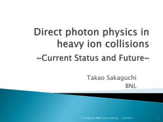 Direct photon physics in heavy ion collisions ~Current Status and Future~
