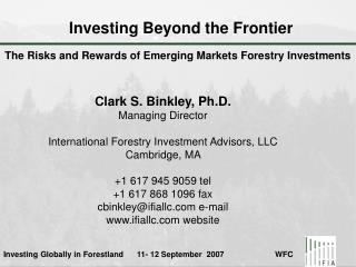 Investing Beyond the Frontier
