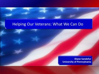 Helping Our Veterans: What We Can Do