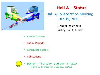 Hall A    Status Hall  A Collaboration Meeting                 Dec 15, 2011