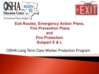 OSHA Long Term Care Worker Protection Program