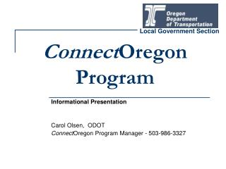 Connect Oregon Program