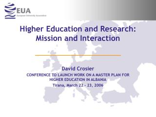 Higher Education and Research: Mission and Interaction