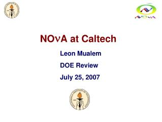NO n A at Caltech