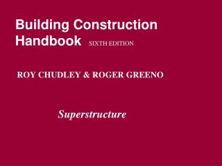 Building Construction Handbook SIXTH EDITION