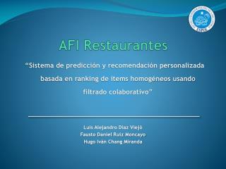 AFI Restaurantes