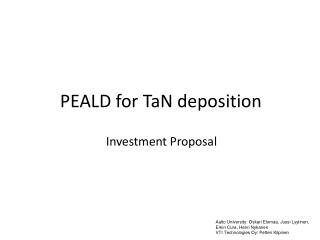 PEALD for TaN deposition