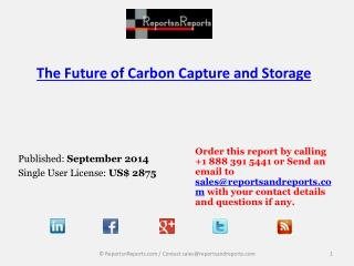 Annual Growth Value Forecasts of Carbon Capture and Storage