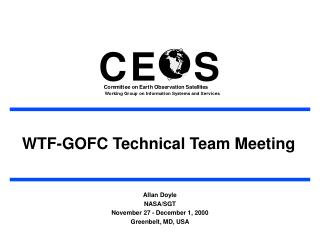 WTF-GOFC Technical Team Meeting