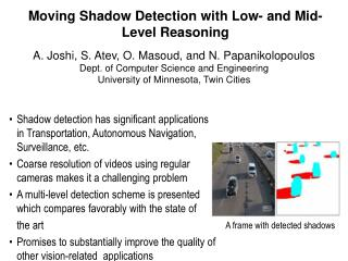 Moving Shadow Detection with Low- and Mid-Level Reasoning
