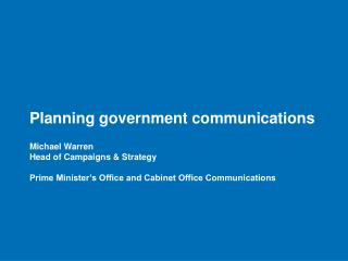 Goals for government communications