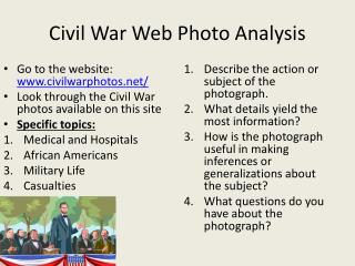 Civil War Web Photo Analysis