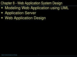 Chapter 8 - Web Application System Design