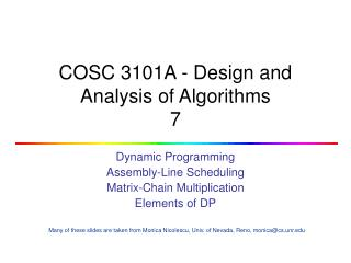 COSC 3101A - Design and Analysis of Algorithms 7