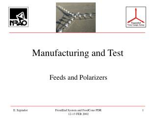 Manufacturing and Test