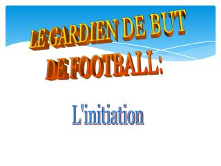 LE GARDIEN DE BUT DE FOOTBALL: