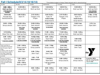 Fall_Pool Schedule 2014 (1)