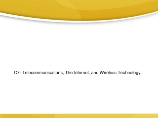 Telecommunications, the Internet, and Wireless Technology