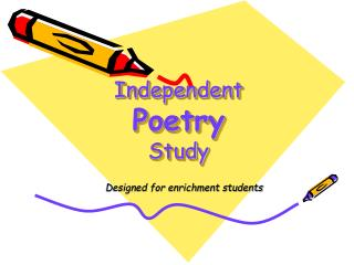 Independent  Poetry Study