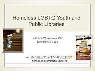 Homeless LGBTQ Youth and Public Libraries