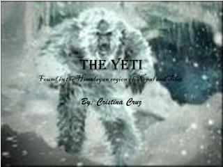 The yeti  Found in the Himalayan region of Nepal and Tibet.