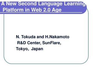 A New Second Language Learning    Platform in Web 2.0 Age