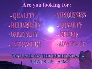 Are you looking for: