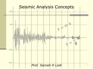Seismic Analysis Concepts