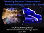 Transportation and Energy Challenges