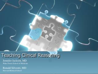 Teaching Clinical Reasoning