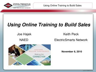 Using Online Training to Build Sales