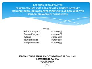 Sidang Presentasi Laporan Kerja Praktek