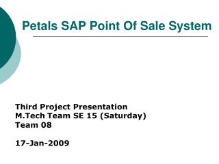 Petals SAP Point Of Sale System