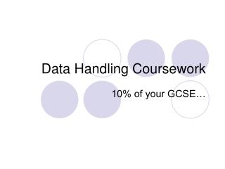 Data Handling Coursework