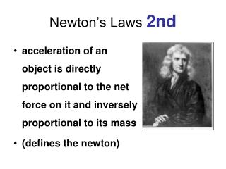 Newton's Laws  2nd